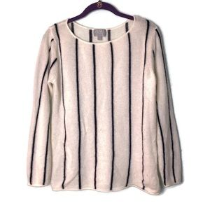 PURE Collection 100% Cashmere Striped Sweater